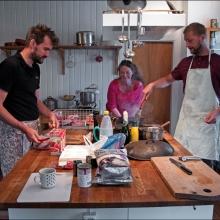 Köket på Kastanjegårdens sommarkollektiv
