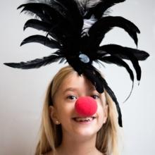 Clown med plymer